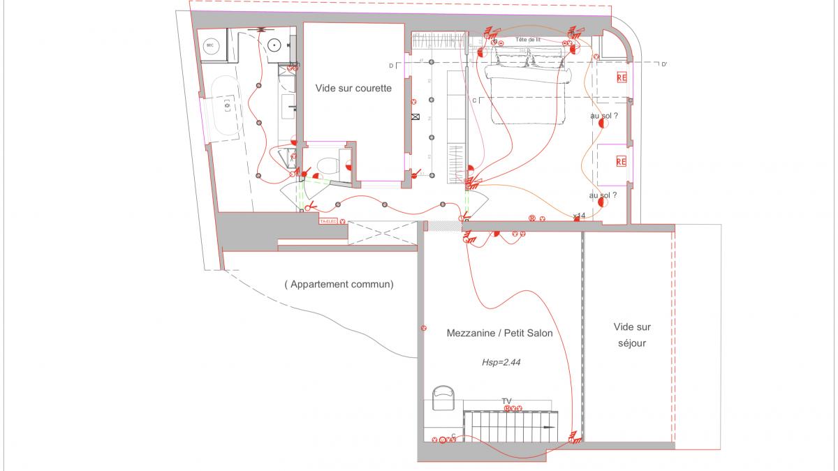 Appartement Vignes_plan électrique