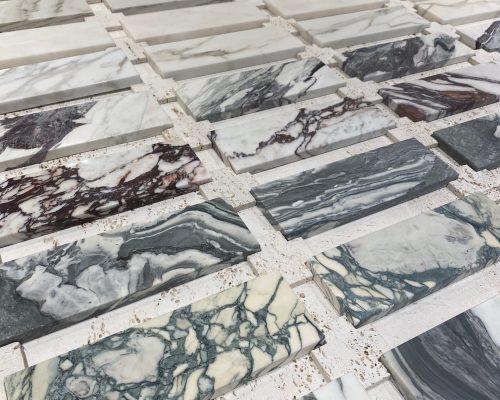 Echantillons de marbre